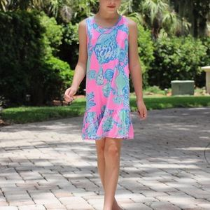 Lilly Pulitzer Pink and Blue Shell Dress